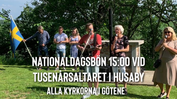 Nationaldagsbön vid tusenårsaltaret, Husaby kyrka